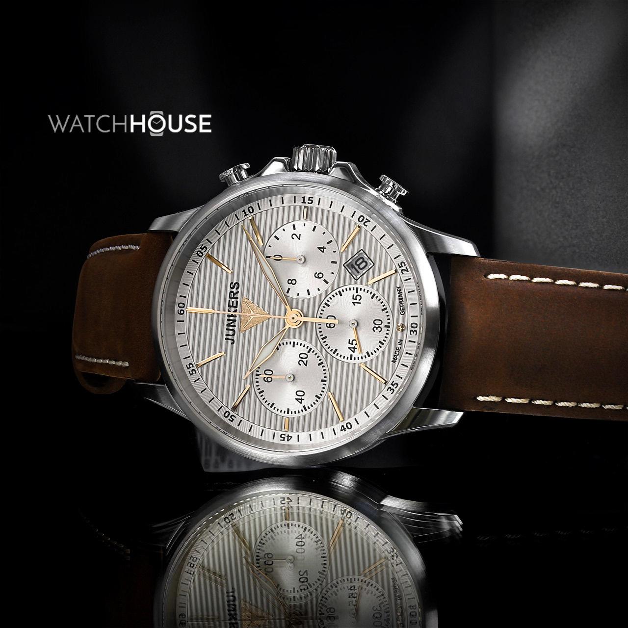 Junkers Herren Armbanduhr Serie Tante Junkers 6878-4 Chronograph