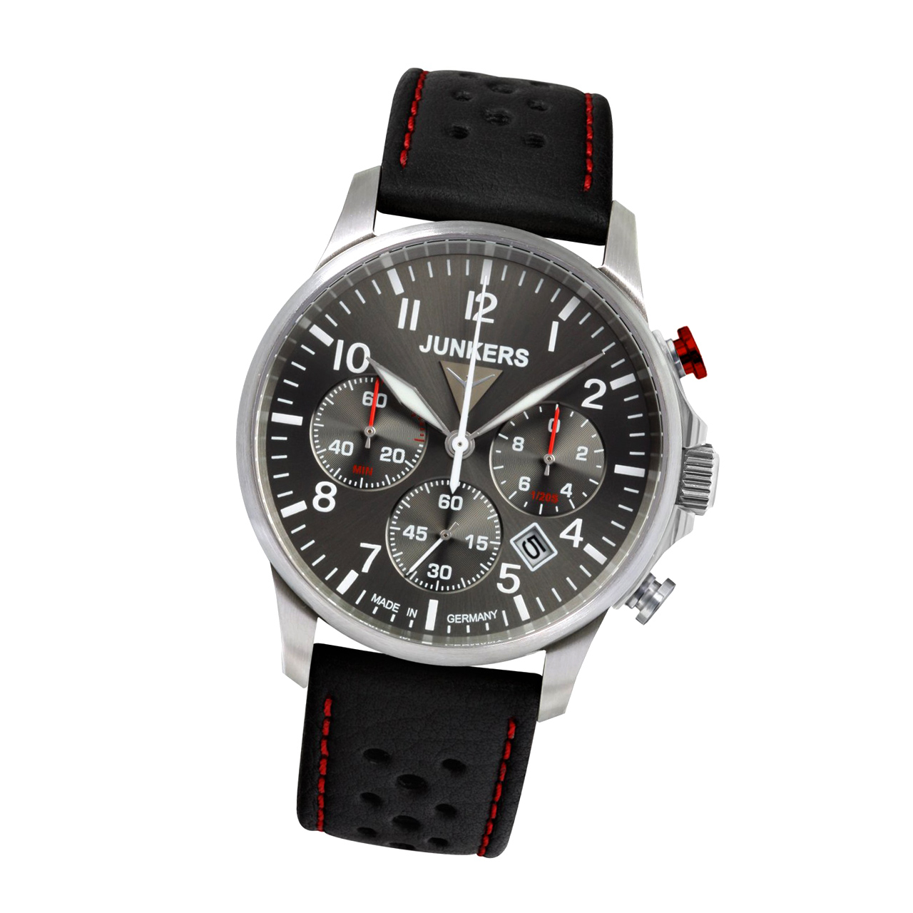 Junkers Serie Tante JU 6872-5 Herren Armbanduhr Chronograph