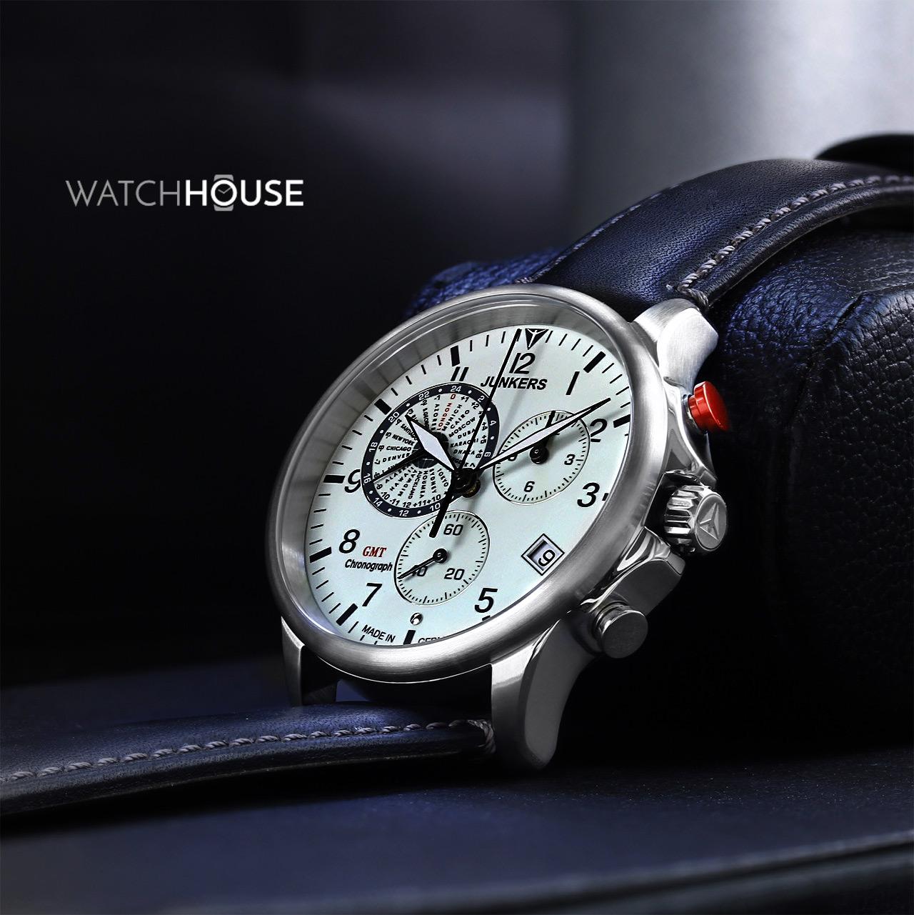 Junkers Serie Tante JU 6892-5 Weltzeit Chronograph Herren Armbanduhr