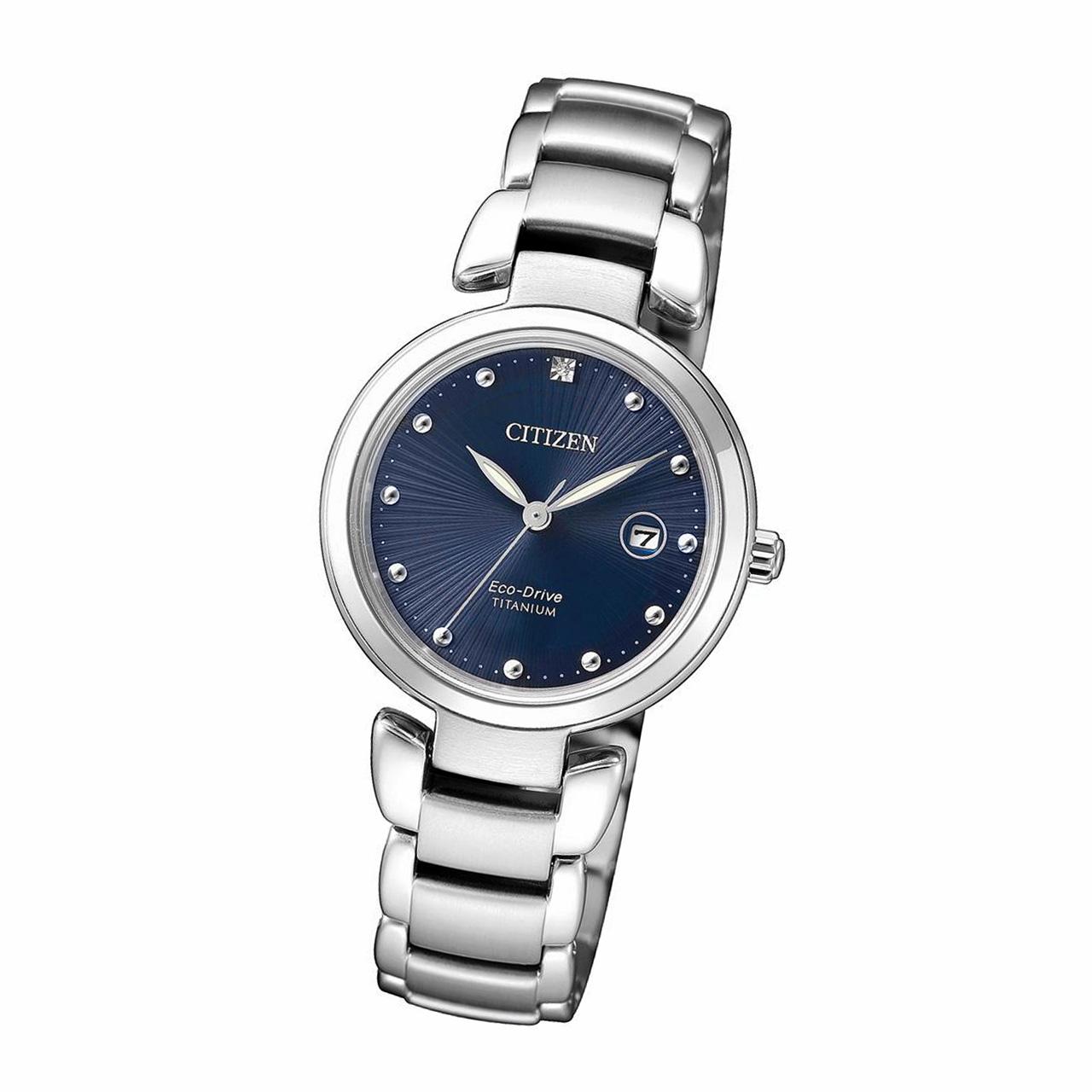 Citizen Super Titanium Damen Armbanduhr EW2500-88L Eco Drive