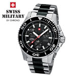 Swiss Military by Chrono Herrenuhr 20084ST-1MBK Chronograph