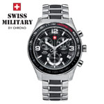 Swiss Military by Chrono Herrenuhr 20074ST-1MBK Chronograph
