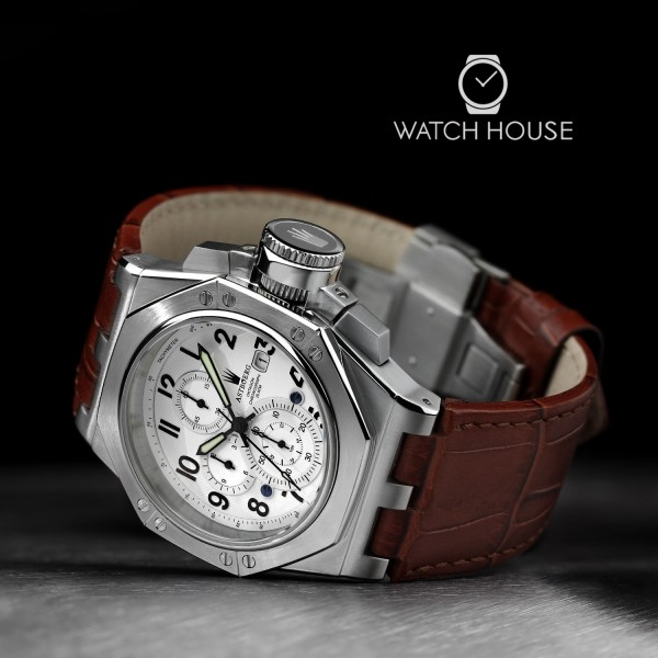 Astboerg Oktagon mens watch AT3062SW exclusive Chronograph