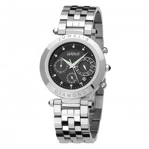 Juwelis Helios Diamond Herrenuhr JW0601SSBRC Chronograph Diamanten