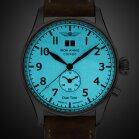 Iron Annie Flight Control 5140-3 Dual Time Mens Wristwatch