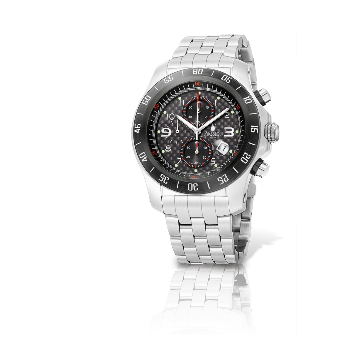Astboerg Avantgarde Carbon Fiber Herrenuhr AT1022C Chronograph