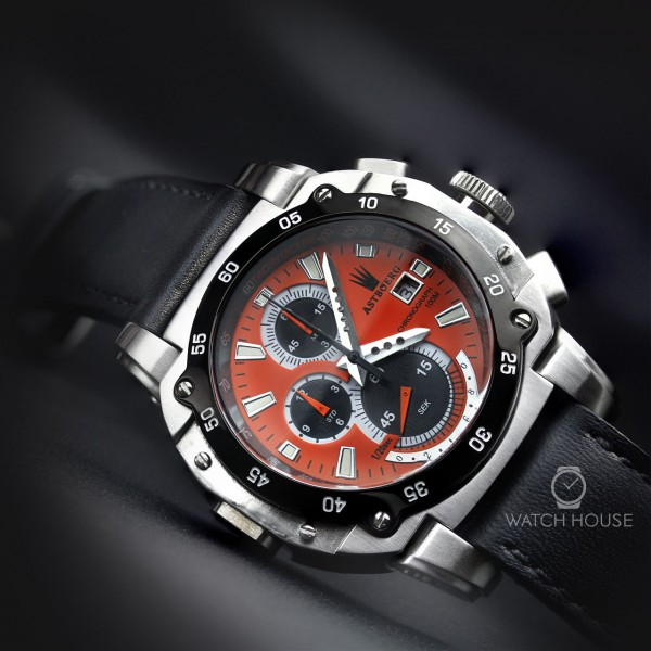 Astboerg Mens Watch AT3061SO King Size II Megalock Chronograph