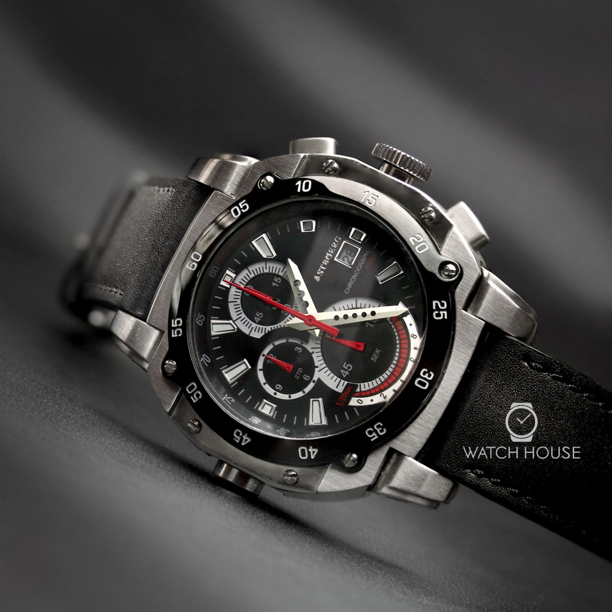 Astboerg Herrenuhr AT3061SS Kingsize II Megalock Chronograph