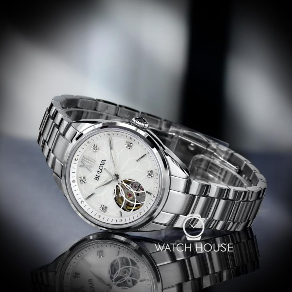 Bulova Classic 96P181 Womens Automatic with MOP Dial and Diamonds