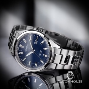 Citizen Elegante BM7470-84L Titan-Herrenuhr in blau