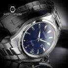 Citizen Elegant BM7470-84L titanium mens watch in blue