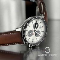 Zeppelin Night Cruise Mens Chronograph 7296-1 With Shining Dial In Darkness