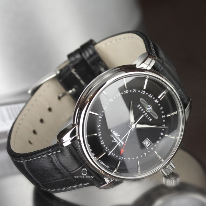 Zeppelin Atlantic 8442-2 Mens Wristwatch with 2nd Timezone