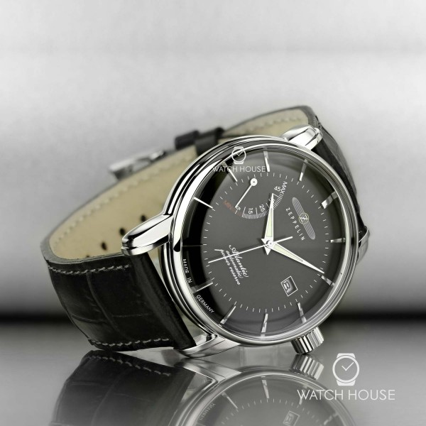 Zeppelin Atlantic 8462-2 Noble Mens Wristwatch Automatic with Powerreserve Hand