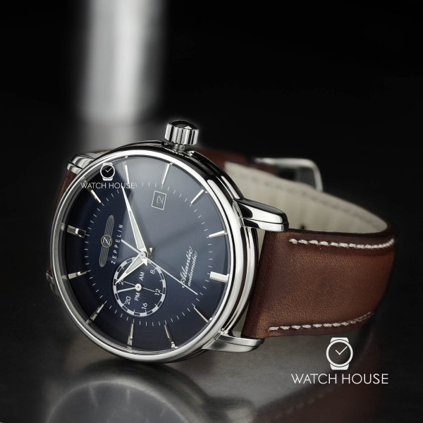 Zeppelin 8470-3 Serie Atlantic Deep Blue Automatic with 24 Hours Dial