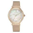 Citizen Eco Drive Lady MOP EM0813-86Y Solar Wristwatch...