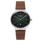 Bauhaus 2140-4 Quarz Kräftiges Lederband Herren Armbanduhr