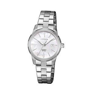 Citizen Basic Ladies EU6070-51D Quartz Womens Wristwatch With M.O.P.