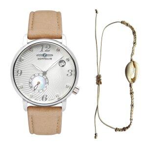 Zeppelin Luna 7631-4 Womens Timekeeper Shell Design Dial with Swarovski