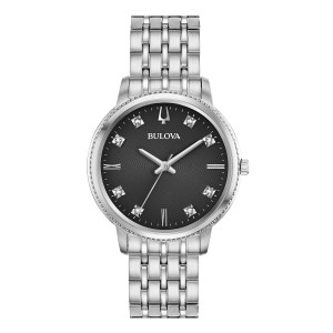 Bulova filigrane Diamond Damenuhr 96P205