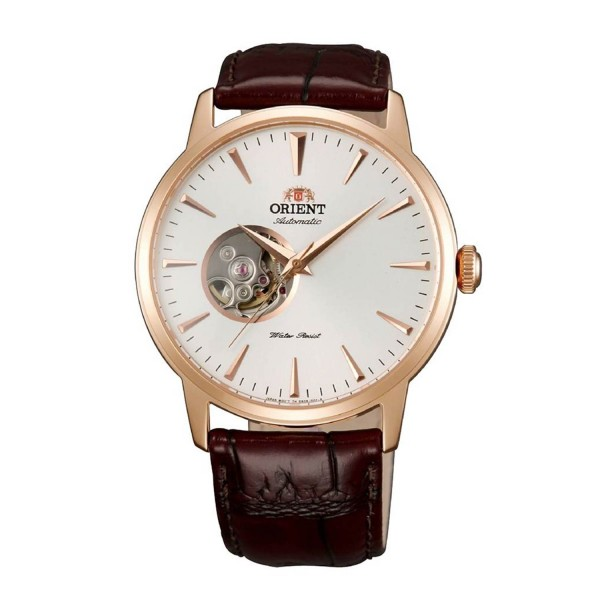 Orient mens automatic FAG02002W0 with open Heart wheel