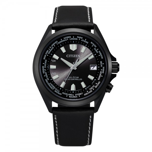 Citizen CB0225-14E Weltzeit Funkuhr Ecodrive Uhr in schwarz