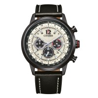 Citizen Beige colored Pilot Style CA4476-19X with red accent