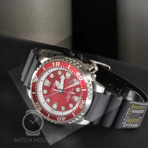 Citizen ISO certified diver watch BN0159-15X in racy red