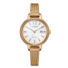 Citizen Watch EW2447-89A vergoldete Damenuhr mit Milanaiseband