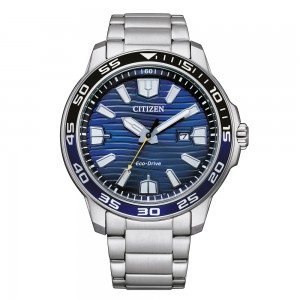 Citizen AW1525-81L - Smaragdblaue Eco-Drive Herrenarmbanduhr