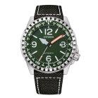 Citizen Herren Automatikuhr in grünem Military Stil NJ2198-16X