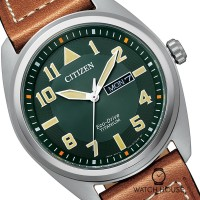 Citizen Super Titanium Eco Drive Herrenuhr BM8560-11XE in Smaragdgrün