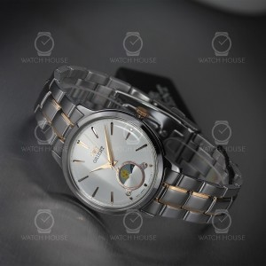 Orient Quarz Classic Sun and Moon Silver Rosegold...