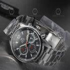 Orient Quartz Chronograph Modern Chrome Black...
