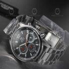 Orient Quartz Chronograph Modern Chrome Black RA-KV0001B10B Men