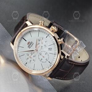 Orient Quarz Chronograph Classic Gold Leather RA-KV0403S10B Men
