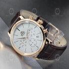 Orient Quartz Chronograph Classic Gold Leather...