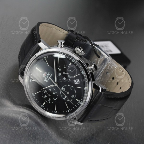 Orient Quartz Chronograph Classic Black Leather RA-KV0404B10B Men