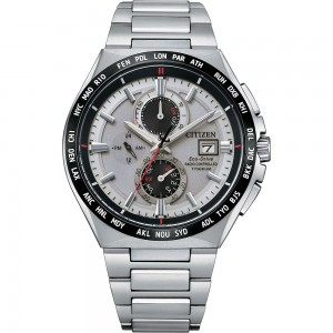 Citizen S-Titanium radio controlled watch AT8234-85A world time with perpetual calendar