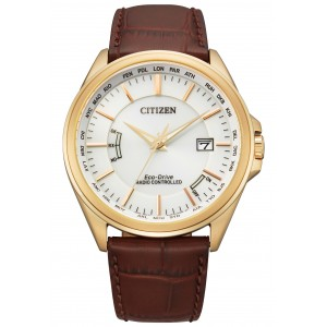 Citizen mens world time radio controlled watch CB0253-19A with perpetual calendar