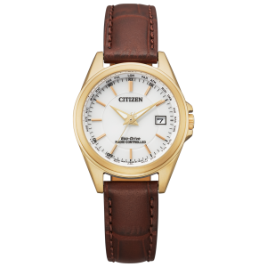 Citizen ladies world time radio controlled watch EC1183-16A with perpetual calendar