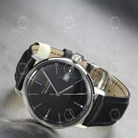 Iron Annie Mens Watch 5044-2 Bauhaus in black with domed glass