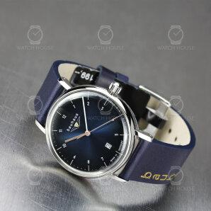 Bauhaus Ladies quartz watch 2141-3 blue gradient with date display
