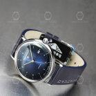 Bauhaus ETA 2824-2 / Sellita Automatikuhr 2152-3 Blau