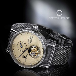 Astboerg Regulator AT702M1 tourbillon grooved case and...