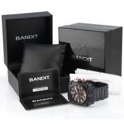 Bandit Flightmaster BTS72943B Herren Armbanduhr Flieger Chronograph