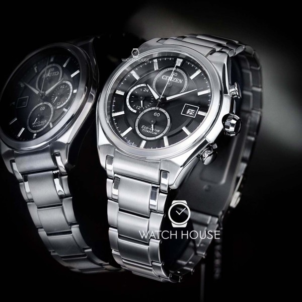 Citizen Super Titanium Eco Drive CA0350-51E Herrenchronograph