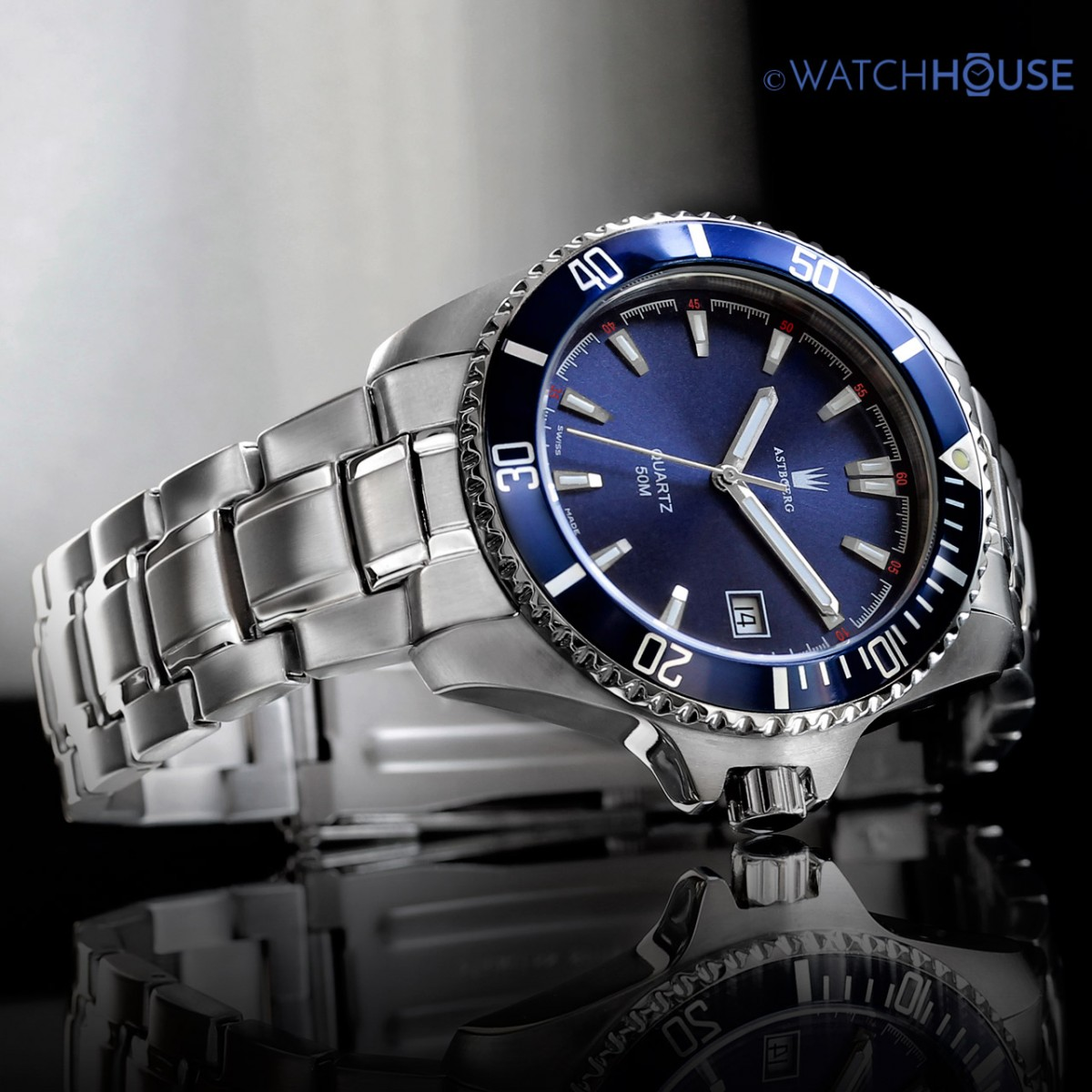 Astboerg Swiss Made Herren Armbanduhr Ocean AT2703MB