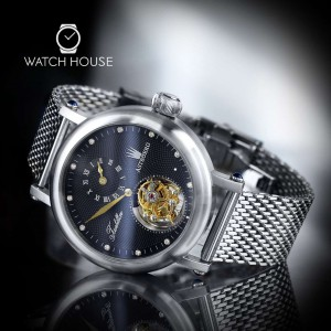 Astboerg Tourbillon Renaissance AT620SSD mit Diamanten in Schwarz