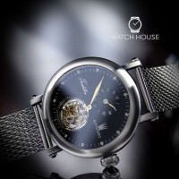 Astboerg Tourbillon Mens Watch Renaissance AT620SSD with Diamonds in Black